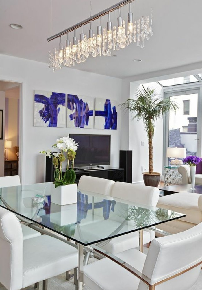 meubles-de-salle-a-manger-contemporaine-chaises-blanches-confortables