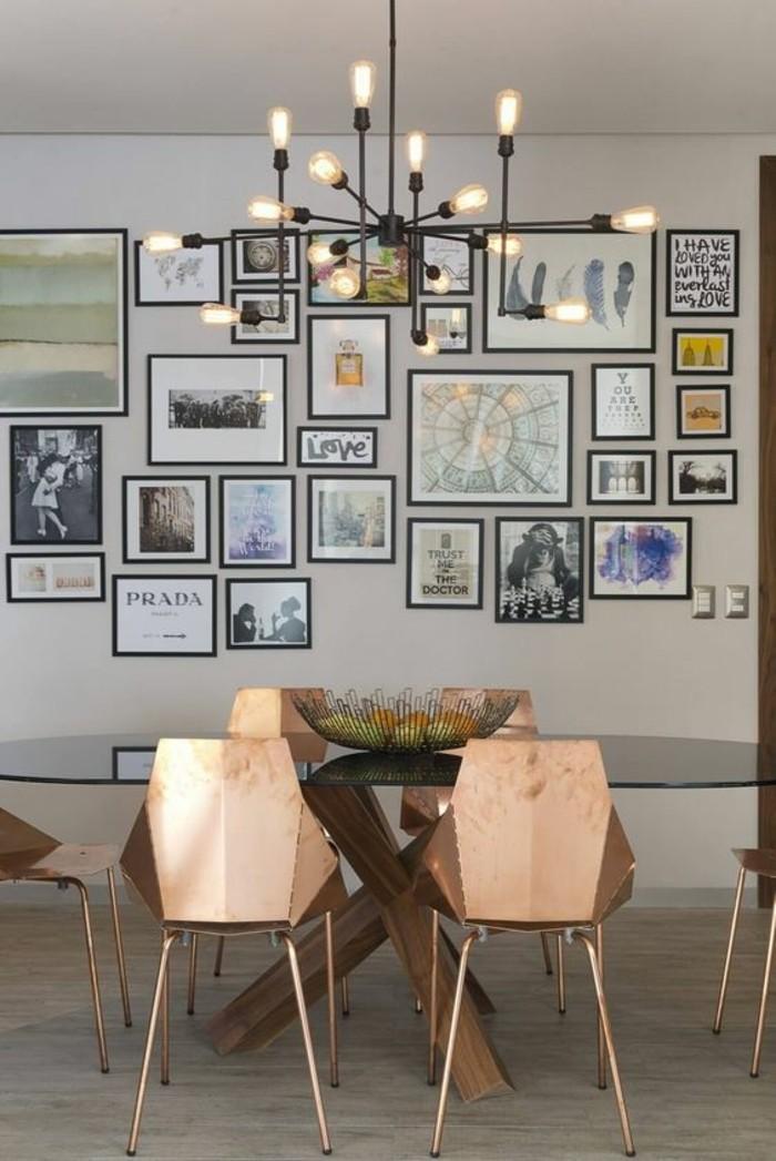 meubles-de-salle-a-manger-grande-table-ovale-plafonnier-original