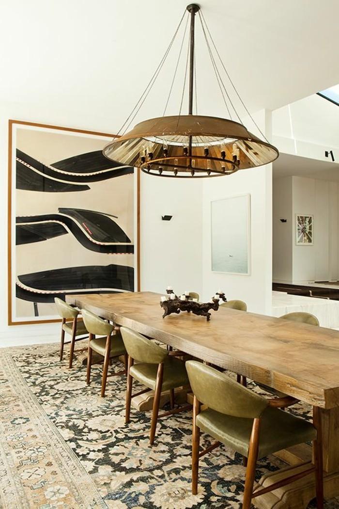 meubles-de-salle-a-manger-table-bois-brut-tapis