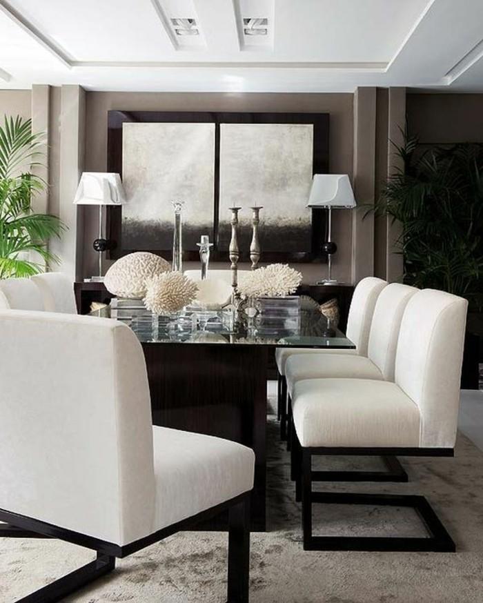 meubles-de-salle-a-manger-table-design-plateau-en-verre-chaises-contemporaines