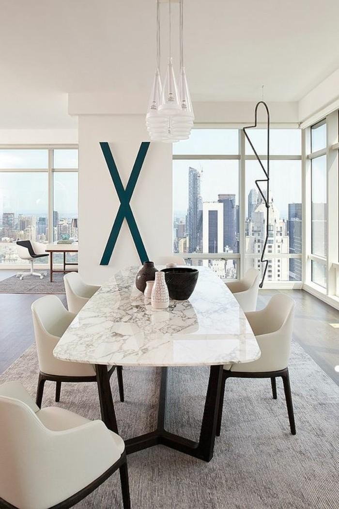 meubles-de-salle-a-manger-table-innovante-marbre-et-metal