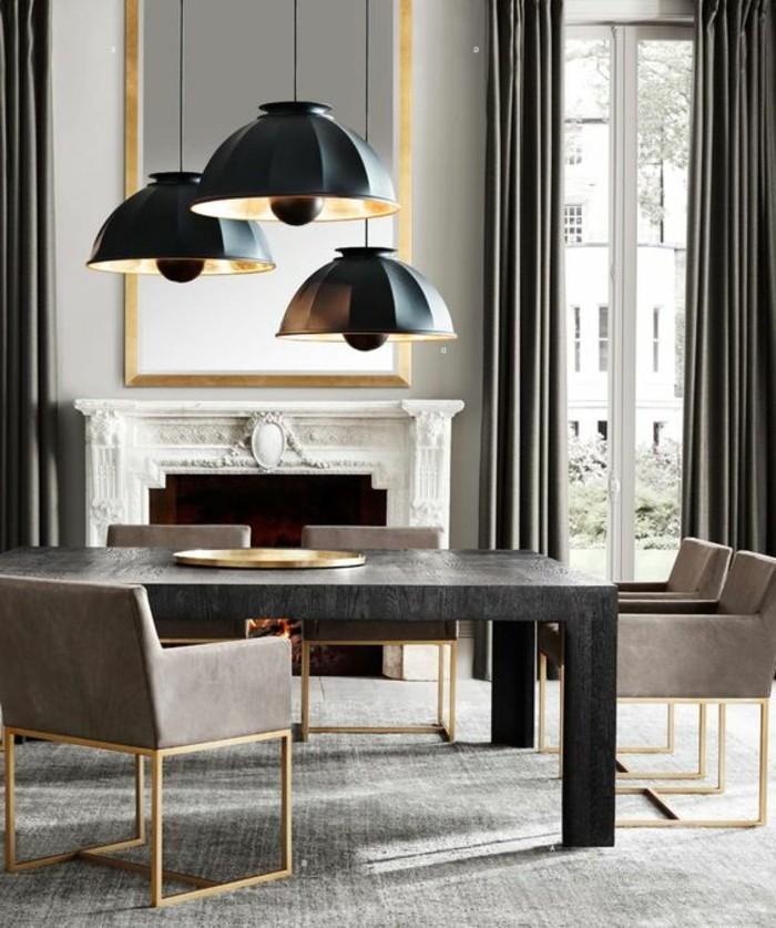 meubles-de-salle-a-manger-table-noire-chaises-de-salle-a-manger