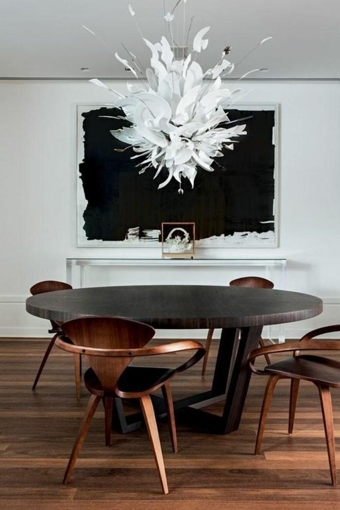 meubles-de-salle-a-manger-table-ronde-design-noir-chaises
