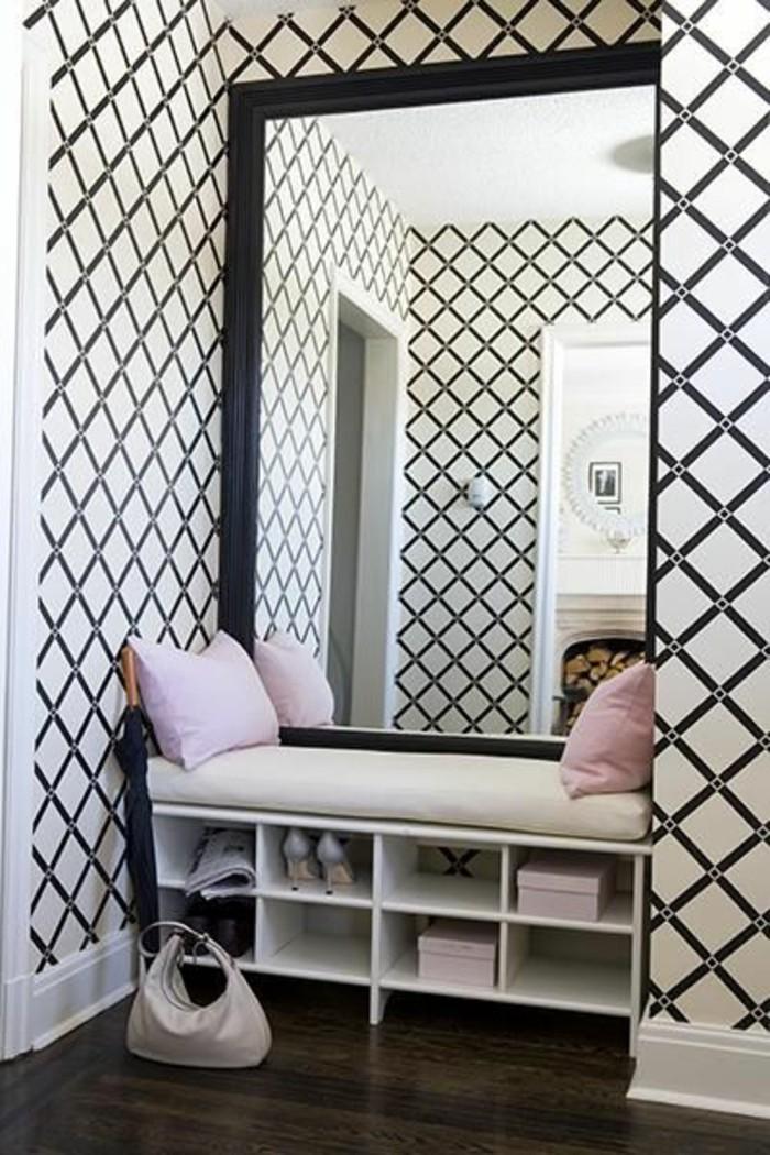 Le miroir mural grande taille accessoire pratique et for Meuble mural rectangulaire
