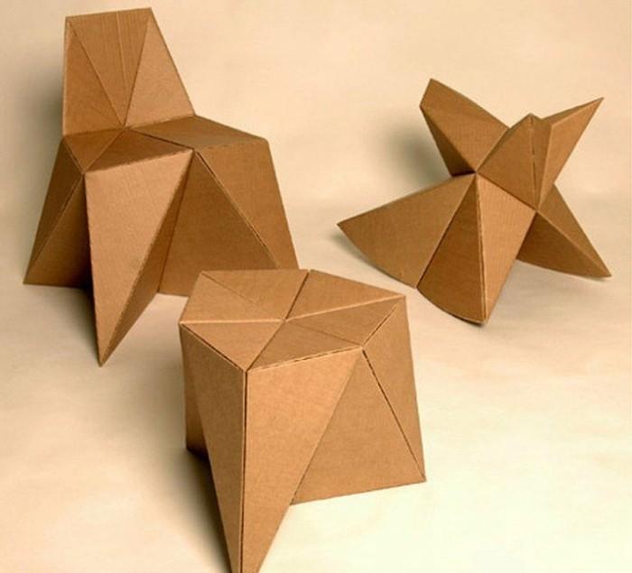 mobilier-en-carton-minimaliste-chaise-en-carton-tabouret-et-table-a-faire-soi-meme