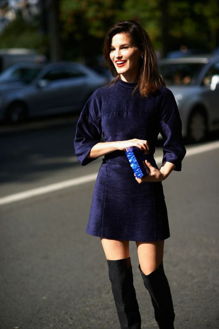 modele-idee-porter-la-robe-velours-noir-moderne