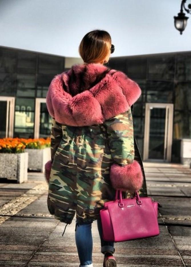 mode-hiver-large-parka-camouflage-faux-fourrure