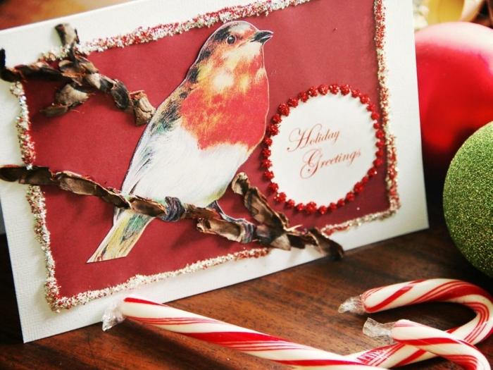 modele-de-carte-de-voeux-originale-avec-un-motif-branche-et-un-petit-oiseau