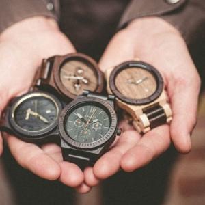 Moderne montre en bois - idée cadeau de Noël pour homme