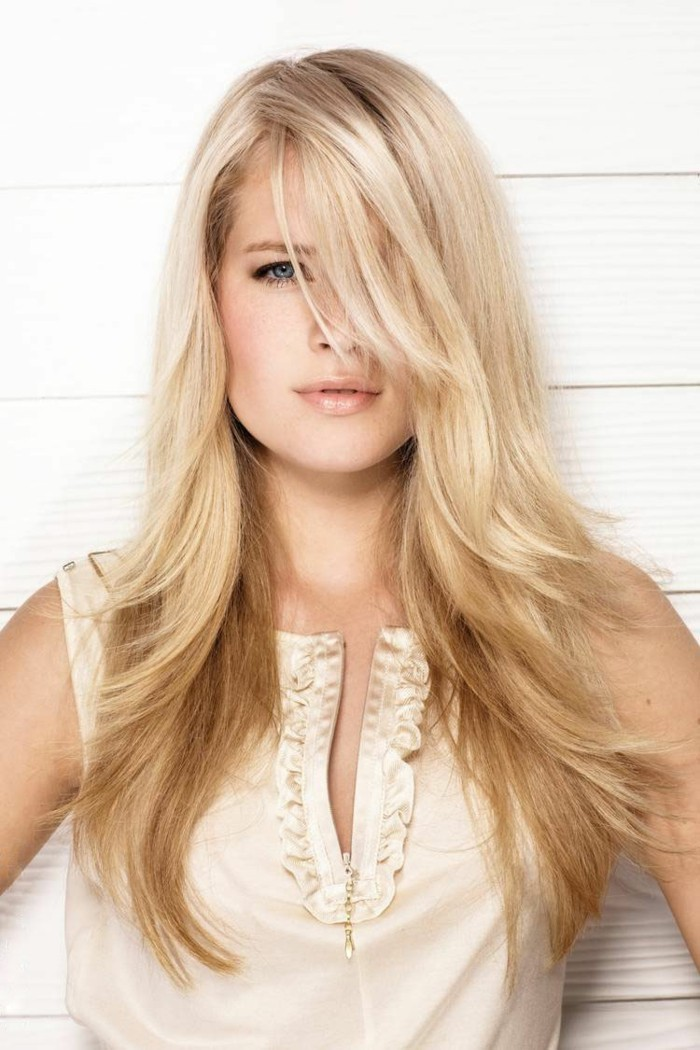 La coupe de cheveux longs pour femme 70 id es en photos - Coupe cheveux long blond ...