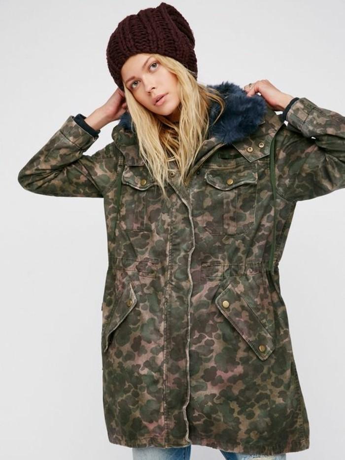 parka-camouflage-moderne-femme-long-kaki