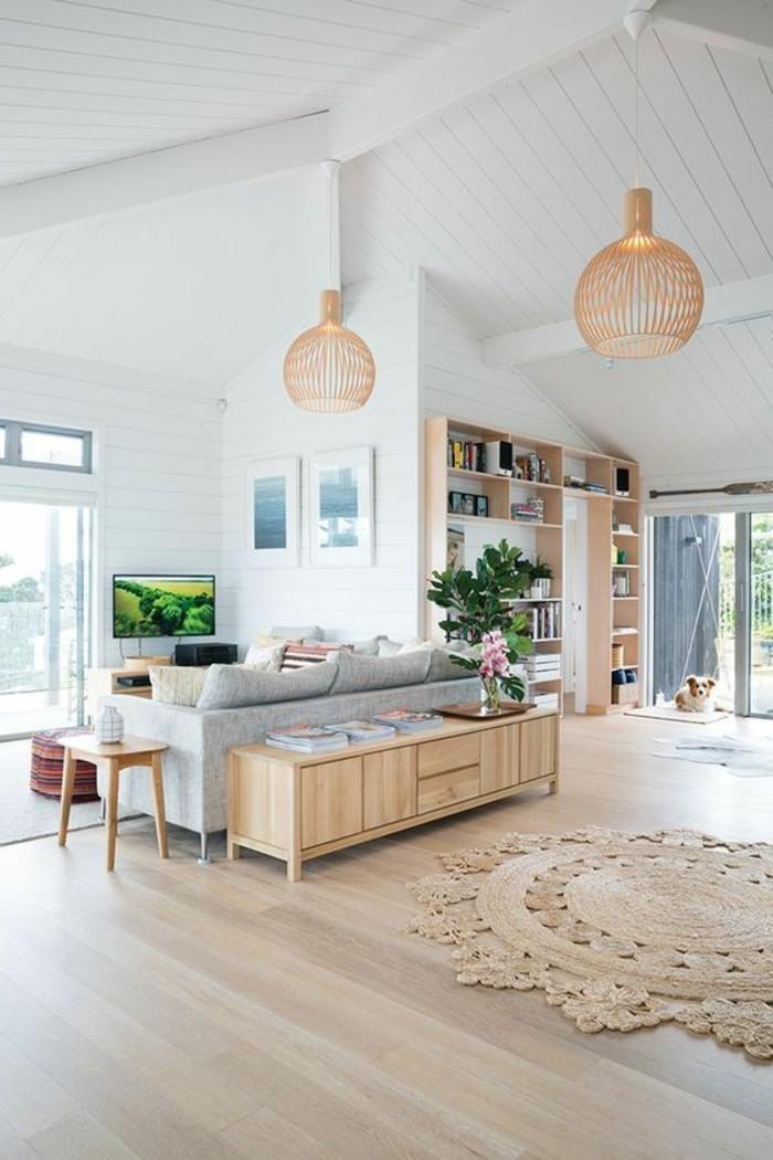 Le parquet clair c39est le nouveau hit d39interieur pour 2017 for Idee deco cuisine avec meuble salon style scandinave