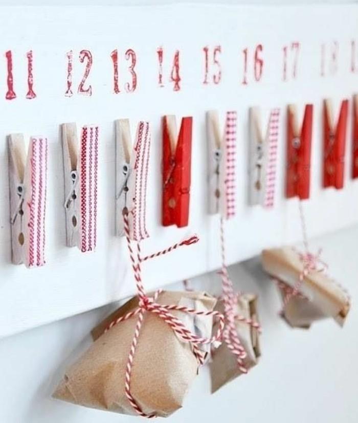 petits-paquets-suspendus-par-des-pinces-a-linge-calendrier-de-l-avent-a-fabriquer