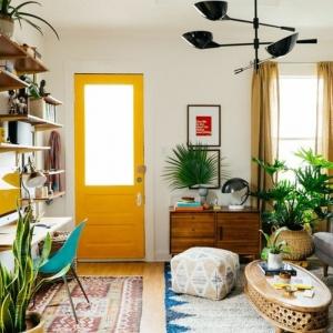 La couleur jaune moutarde - nouvelle tendance dans l'intérieur maison