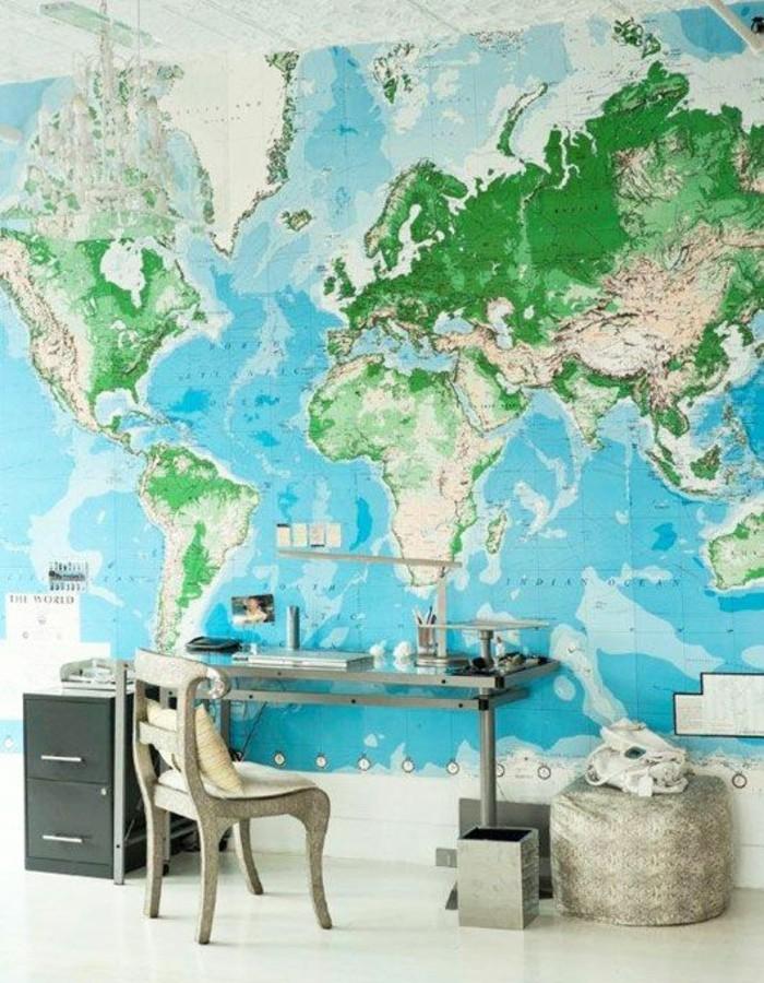 le poster carte du monde g ante vous donne envie voyager. Black Bedroom Furniture Sets. Home Design Ideas