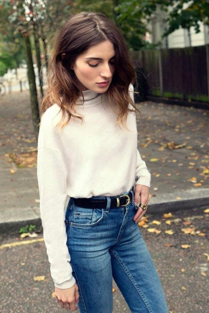 pull-col-roule-femme-blanc-look-vintage-jean