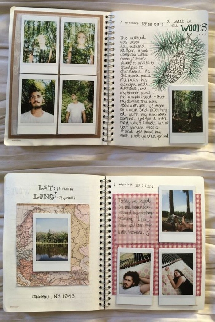 Comment faire un carnet de voyage id es inspirantes en 60 for Album photo maison