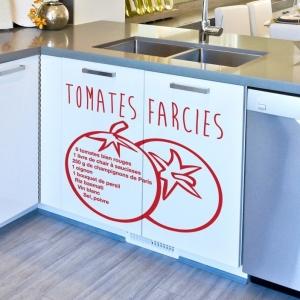 Stickers de cuisine recette - une idée sympa