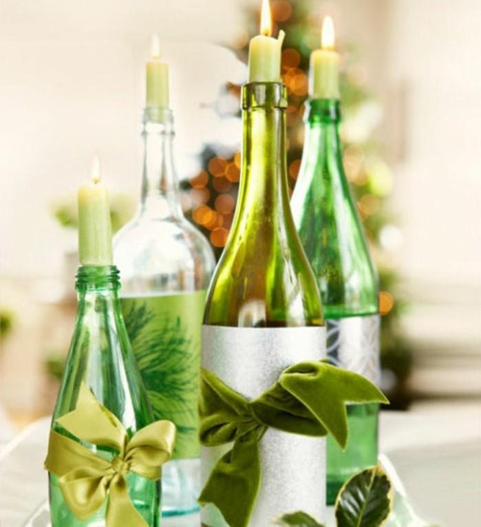 recyclage-de-bouteilles-et-leur-utilisation-comme-une-decoration-de-noel-elegante