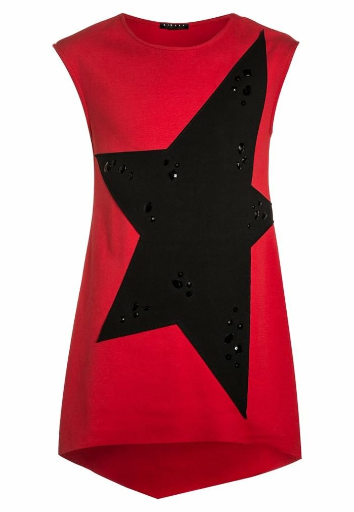 robe-de-fete-fille-rouge-avec-etoile-noire-resized