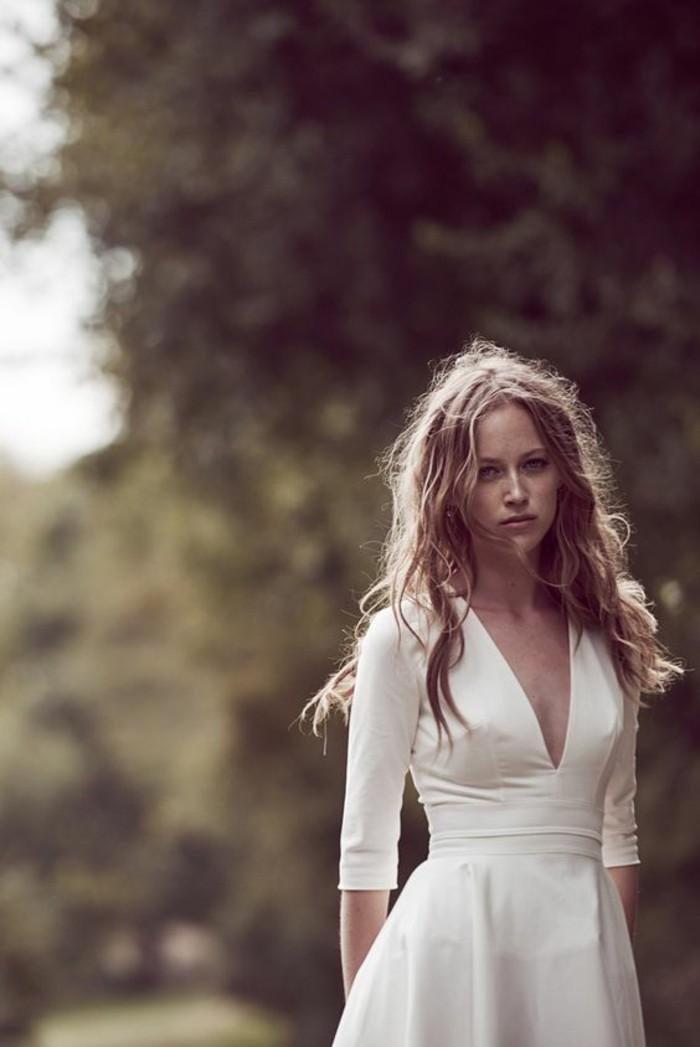 robe-de-marier-simple-romantique-elegance-manches-mi-longs