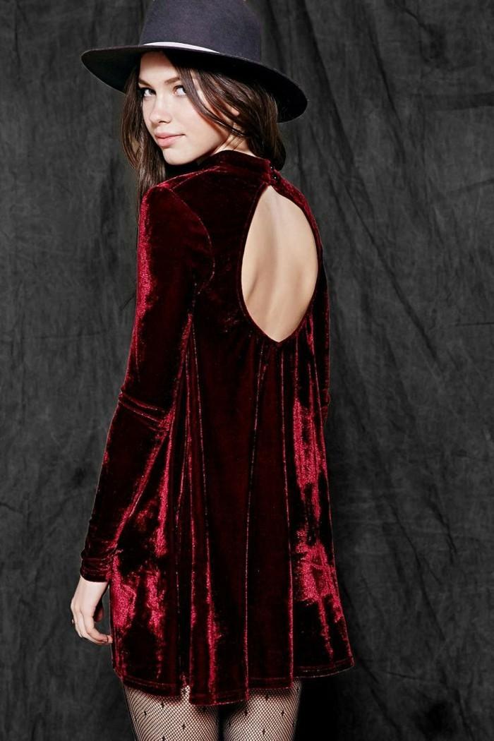 robe-velours-noir-moderne-idee-cool-idee-porter-moderne