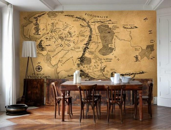 salle-a-maner-carte-du-monde-vintage