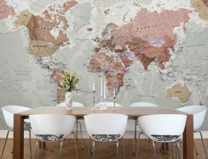 salle-a-manger-carte-planisphere-chaise-de-cuisine-moderne