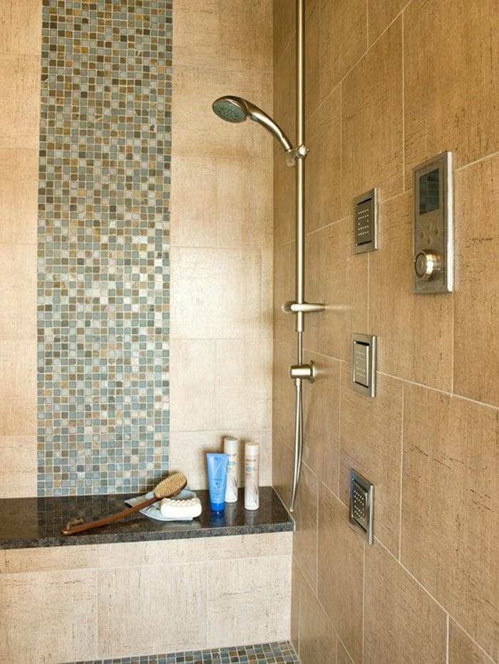 Le carrelage beige pour salle de bain 54 photos de salles de bain beiges - Carrelage grand carreau ...