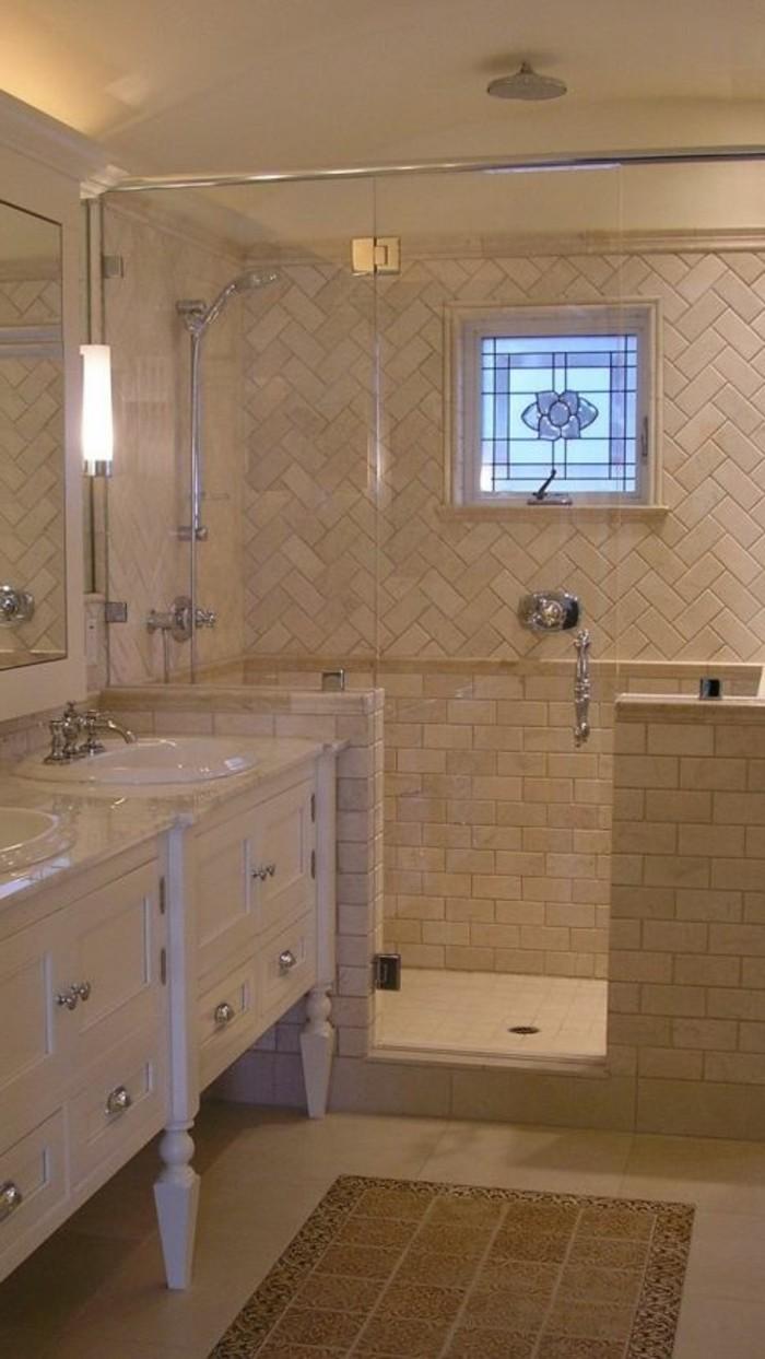 Le carrelage beige pour salle de bain 54 photos de - Salle de bain couleur sable ...