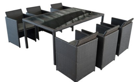 awesome table salon de jardin gifi contemporary awesome. Black Bedroom Furniture Sets. Home Design Ideas