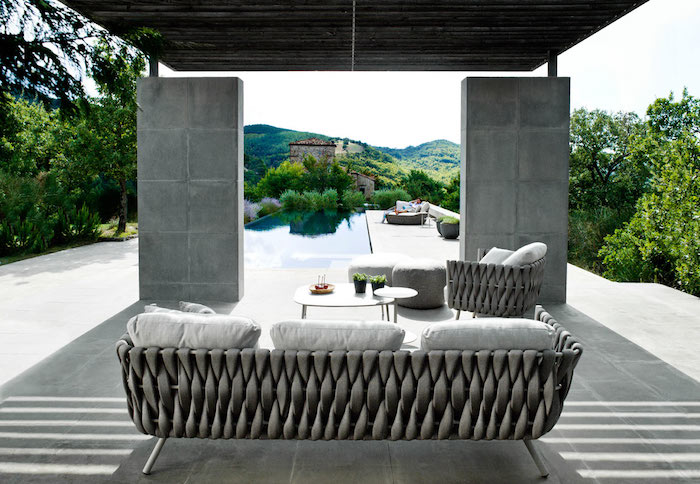 Salon De Jardin Tresse Gris Design Fauteuil Table