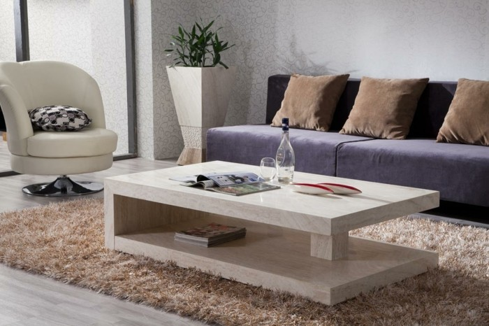 table basse en marbre 58 id es pour donner du style au salon. Black Bedroom Furniture Sets. Home Design Ideas
