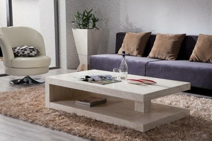 table basse en marbre 58 id es pour donner du style au. Black Bedroom Furniture Sets. Home Design Ideas
