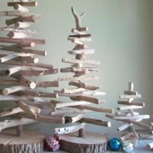 On vous pr sente l couronne de no l dans 43 photos - Comment faire un sapin en bois ...