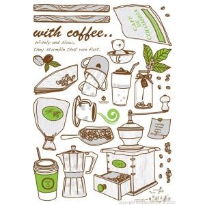 Stickers cuisine - Pour l'amour du café!