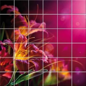 Stickers carrelage à motifs floraux