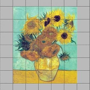 Stickers carrelage - Les Tournesols de Van Gogh