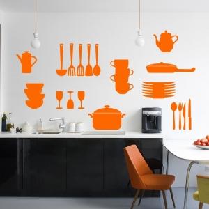 Stickers de cuisine - modèle Ustensiles de cuisine