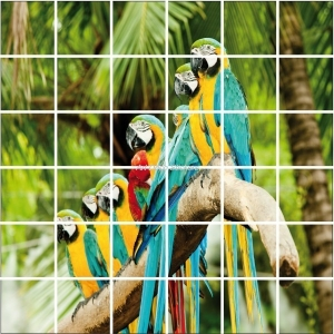 Stickers carrelage - Paysage tropique