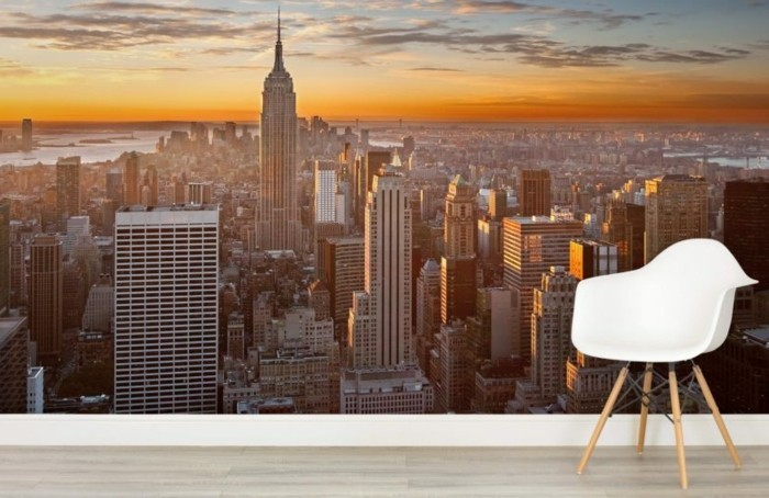 Les stickers muraux new york des id es spectaculaires for Decoration murale a coller