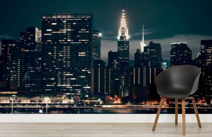 stickers-muraux-new-york-la-grosse-pomme-pendant-la-nuit
