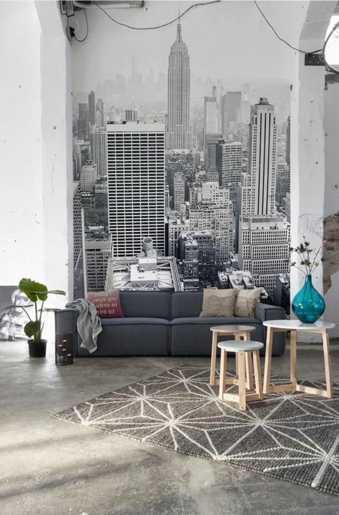 les stickers muraux new york des id es spectaculaires pour vos murs. Black Bedroom Furniture Sets. Home Design Ideas