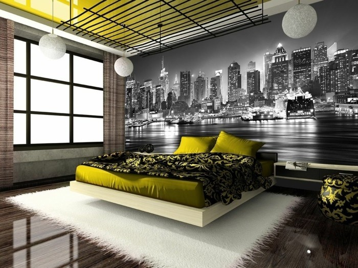 les stickers muraux new york des id es spectaculaires. Black Bedroom Furniture Sets. Home Design Ideas