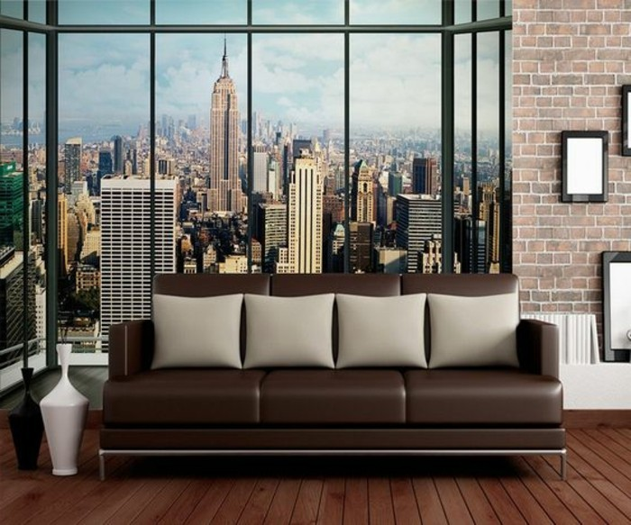 Les stickers muraux new york des id es spectaculaires for Decoration murale geante new york