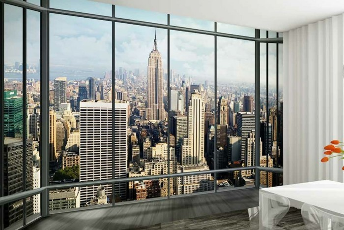 Decoration Murale Vue Sur New York Of Les Stickers Muraux New York Des Id Es Spectaculaires