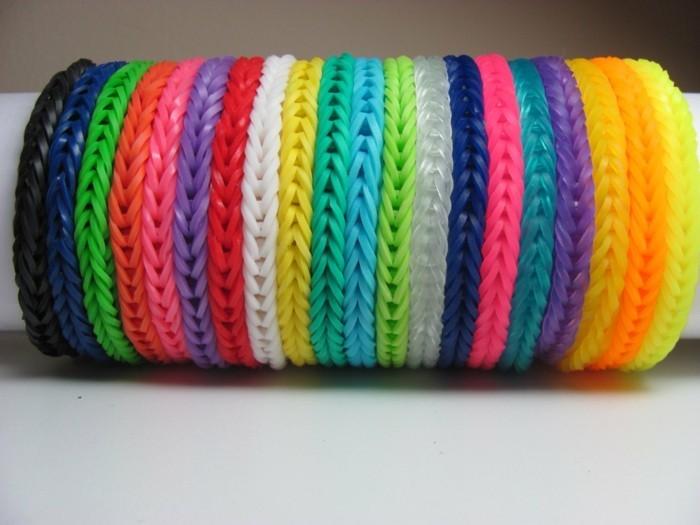 suggestion-de-bracelets-unicolores-tres-faciles-a-fabriquer-bracelet-comment-faire-un-bracelet-en-elastique