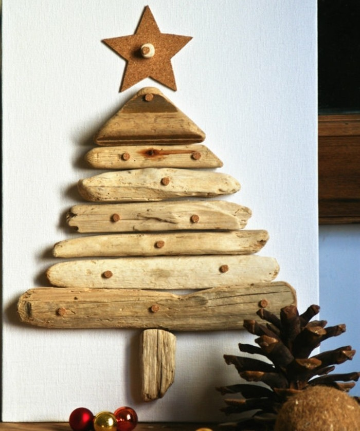 superbe-sapin-de-noel-design-en-bois-flotte-branches-de-bois-courtes ...