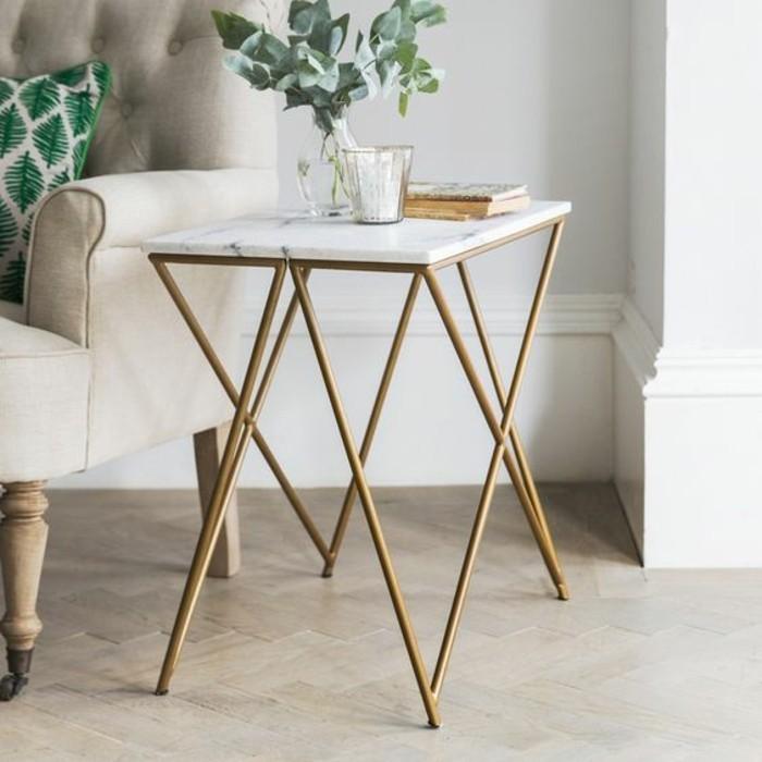 table-basse-dappont-pieds-en-cuivre-element-marbre-blanc