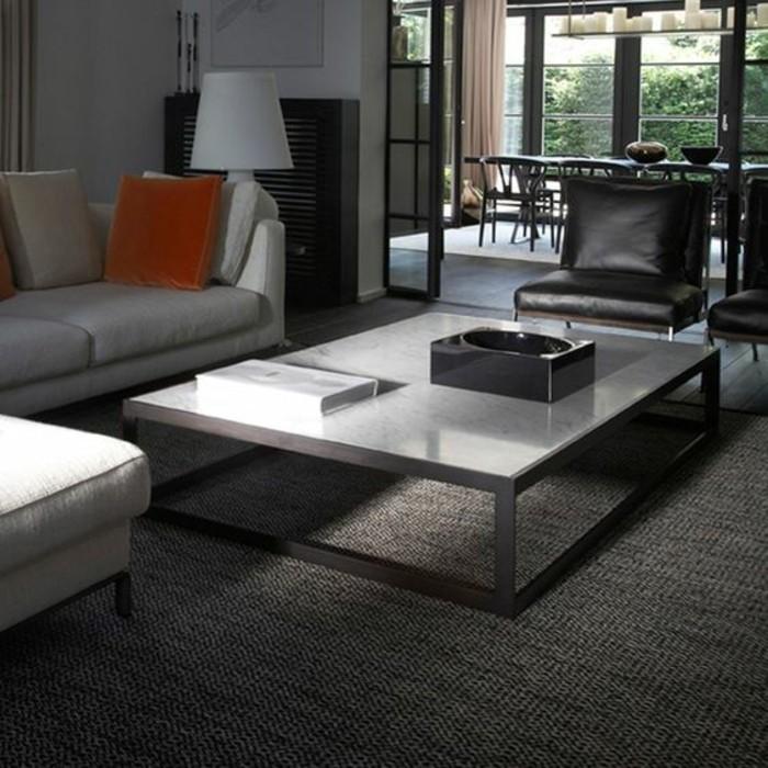 table-massive-de-plateau-marbre-blanc-et-pieds-metalliques